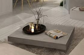 6  Vega Concrete Coffee Table on Wheels - Tables - Furniture Maison.