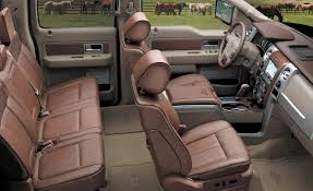 there are few vehicles more luxurious and comfortable than a king ranch ford truck wrapped in leather and decked out with every conceivable comfort and