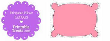 cute pillow clipart. printable pink pillow cut outs cute clipart d