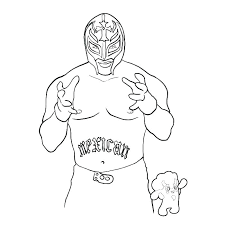 Wwe Sin Cara Coloring Pages Coloring Pages Wwe Sin Cara And Rey