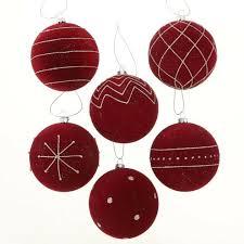 6 Weihnachtskugeln Christbaumschmuck Christbaumkugeln Kunstsoff Samt Rot ø 8 Cm