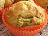 asparagus sour cream muffins