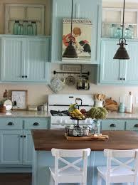 Blue Kitchen Cabinets My Blue Kitchen Cabinets A Cottage Girl