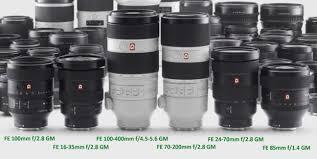sony fe lenses. sony-fe-gm-lenses-lineup sony fe lenses