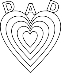 Small Picture Fathers Day Big Love for Daddy on Fathers Day Coloring Page