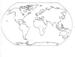 World Map Coloring Pages Trustbanksurinamecom