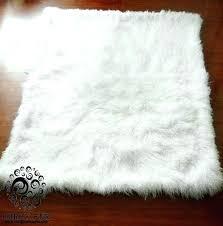 lamb wool rug 4 x 6 lamb fur rug snow bleached white faux lambs wool rug