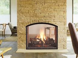 escape see through gas fireplace