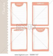 Cute Lists Vector Set 4 Do Lists Vector Photo Free Trial Bigstock