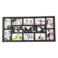 photo frame black family 10 aperture 4x6