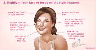 highlight your face to focus on the right features and hide fat