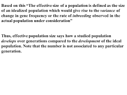 effective population size definition quantitative genetics and breeding theory ppt download