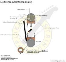 six string supplies les paul junior wiring diagram 50s style wiring diagram for gibson les paul junior