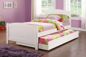 Amazon.com: Twin Bed W/Trundle In White Color Pine Wood By Poundex: Kitchen  U0026 Dining