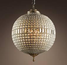 basic round chandelier