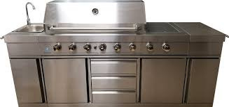3 in 1 outdoor electric grill kitchen propane natural gas with sink side burner led lights