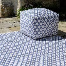 beautiful blue outdoor rug