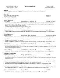 emergency room technician resumes