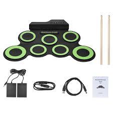 <b>Portable Electronic</b> Drum Digital USB 7 Pads Roll up Drum Set ...