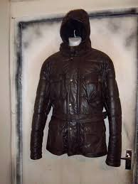 rare belstaff antique brown leather quilted panther motorcycle jacket size xl 1 of 12free