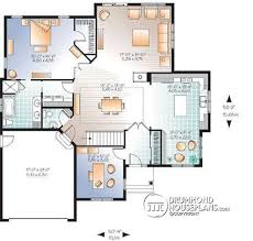 home office plans. 1st Level Luxurious Bungalow With Large Living Room, Home Office And Garage - Foxwood 3 Plans