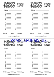 Score Sheet Templates & Samples Forms