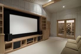 simple home theater. Modren Theater Picture Of Cozy And Simple Home Entertainment Room POSSIBLE DIY Paint  Wall Black Or Plywood Behind Screen Between The 2 Bookcase Shelves And Simple Home Theater T