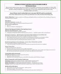 Nursing Student Resume Sample Chronological Resume Example Extraordinary 8 Sample Nursing