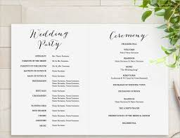 program template for wedding printable wedding program template rustic wedding fan program in