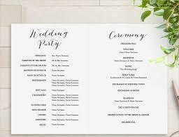 Printable Wedding Program Template Rustic Wedding Fan Program In