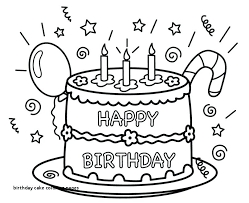 Coloring Pages Of Birthday Cakes Birthday Cake Color Page Coloring