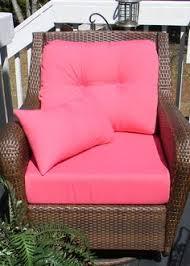deep seating chair cushion set seat back pink choose size free pillow
