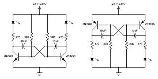 index led and light circuit circuit diagram com 2 transistor led flasher