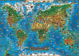 all animals in the world pictures. Modren The Animals Of The World Map Educational Poster Throughout All In The Pictures Posters