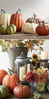 Faux Pumpkin Thanksgiving Decorations | Fall Decor Ideas | Fall Decor |  Thanksgiving Table Centerpiece #