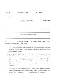 Criminal Statement Template Court Witness Statement Template