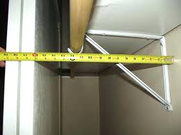 closet shelf depth of a reach in conjunction with standard linen cabinet walk shelves how to closet shelf depth standard of shelves linen