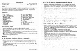 Dba Resume Examples Dba Resume Format New Oracle Dba Resume Templatesmberpro Resume 19