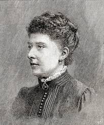 Two crossed lines that form an 'x'. Princess Beatrice Of The United Kingdom Later Princess Henry Of Battenberg 1857 1944 Fifth Daughter And Youngest Child Of Queen Victoria And Prince Albert Seen Here Aged 34 From The Strand
