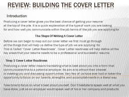 Cover Letter Powerpoint Authorstream
