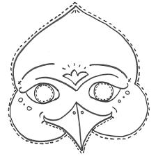 Disegno Di Maschera Di Uccello Da Colorare Per Bambini Con Immagini