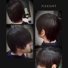 縮毛矯正で癖を伸ばして自然な髪型に 仕上げましたkami Yu所属有林