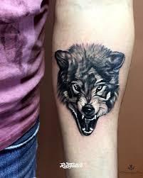 волк татуировки Rustattooru реутов