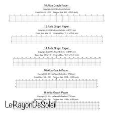 Aida 10 12 14 16 And 18 Cross Stitch Graph Paper Grid Template