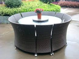 round wicker dining table outdoor dining table glass top outdoor rattan dining furniture sets and charming