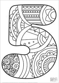 1800 x 2294 jpeg 106 кб. Number 5 Mandala Coloring Page Coloringbay