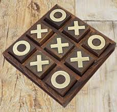 Naughts And Crosses Wooden Game Fascinating Amazon Tic Tac Toe Game Wooden Toy And Game Noughts And Crosses
