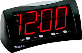 westclox 66705 clock alarm lcd lg dsply red hover to zoom