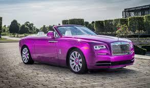 Michael Fuxs Custom Rolls Royce Dawn In Fuxia Inspired By A Flower