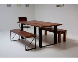 metal and wood dining table. Bold Modern Reclaimed Iron \u0026 Wood \u0027Mt Whitney\u0027 Dining Table. Metal And Table W